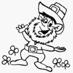 Online Leprechaun Coloring Pages   f8shy