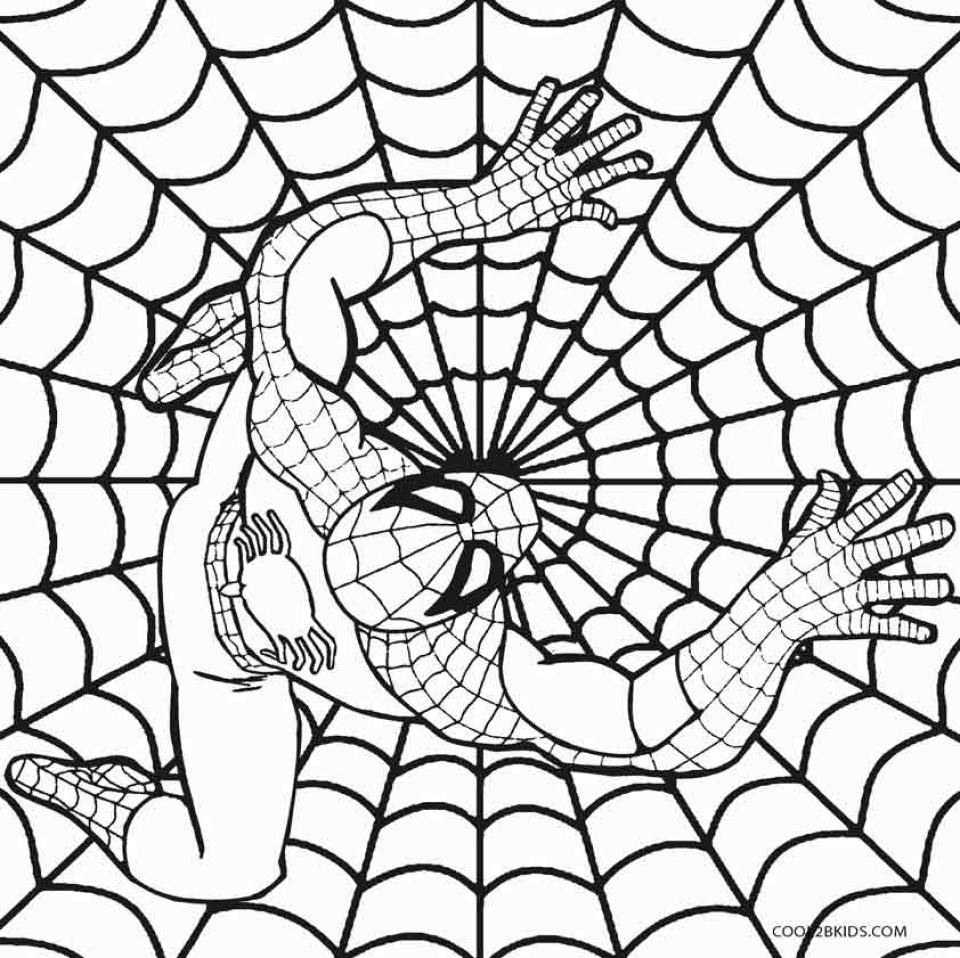 Online Spiderman Coloring Pages   357851