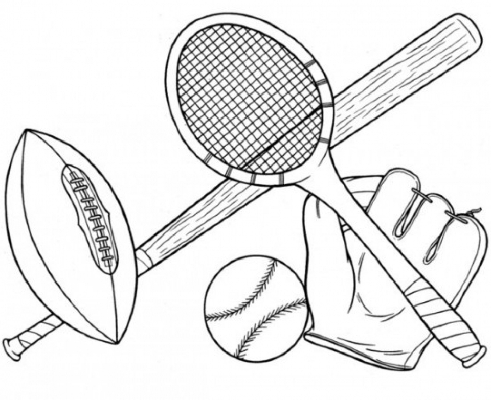 20 Free Printable Sports Coloring Pages