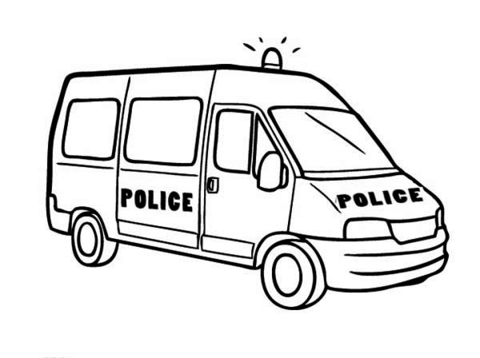 police car coloring pages free printable 68103 - Police Car Coloring Pages