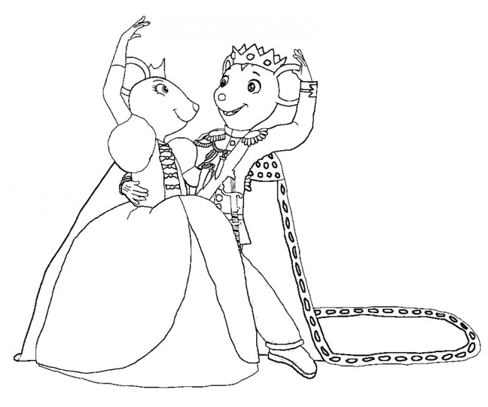 angelina ballerina coloring pages - Angelina Ballerina Coloring Pages