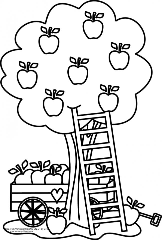 Free Coloring Pages Of An Apple : Get this printable apple coloring pages online gvjp