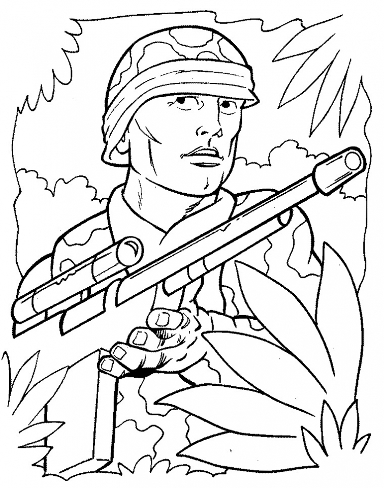 Printable Army Coloring Pages   9wchd