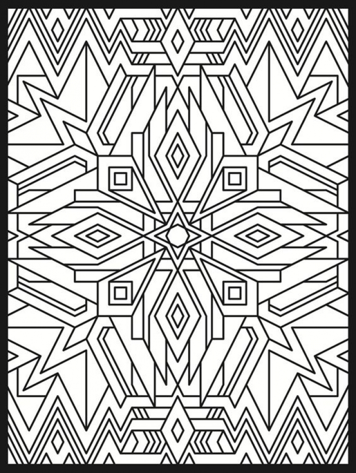 Get This Printable Art Deco Patterns Coloring Pages for