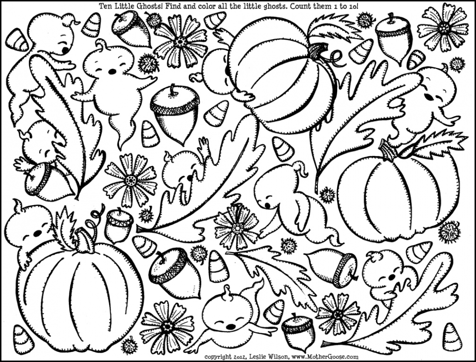 Printable Autumn Coloring Pages for Adults   ppnm76