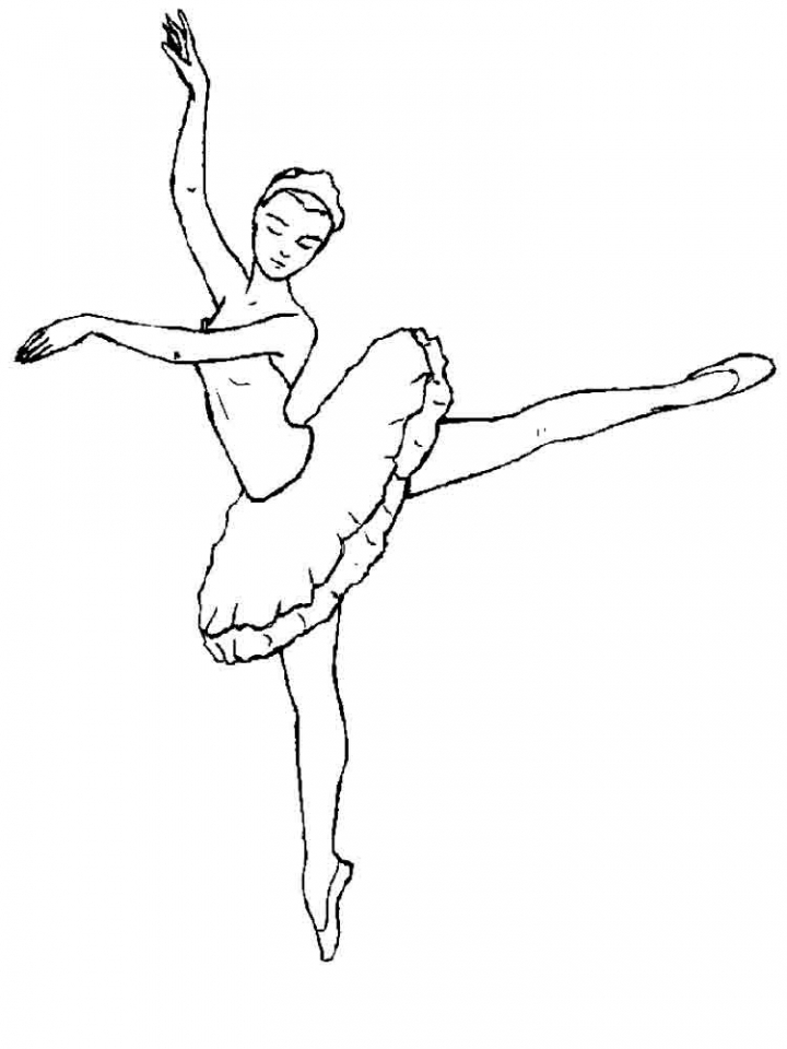20+ free printable ballerina coloring pages - everfreecoloring.com - Ballerina Coloring Pages Printable