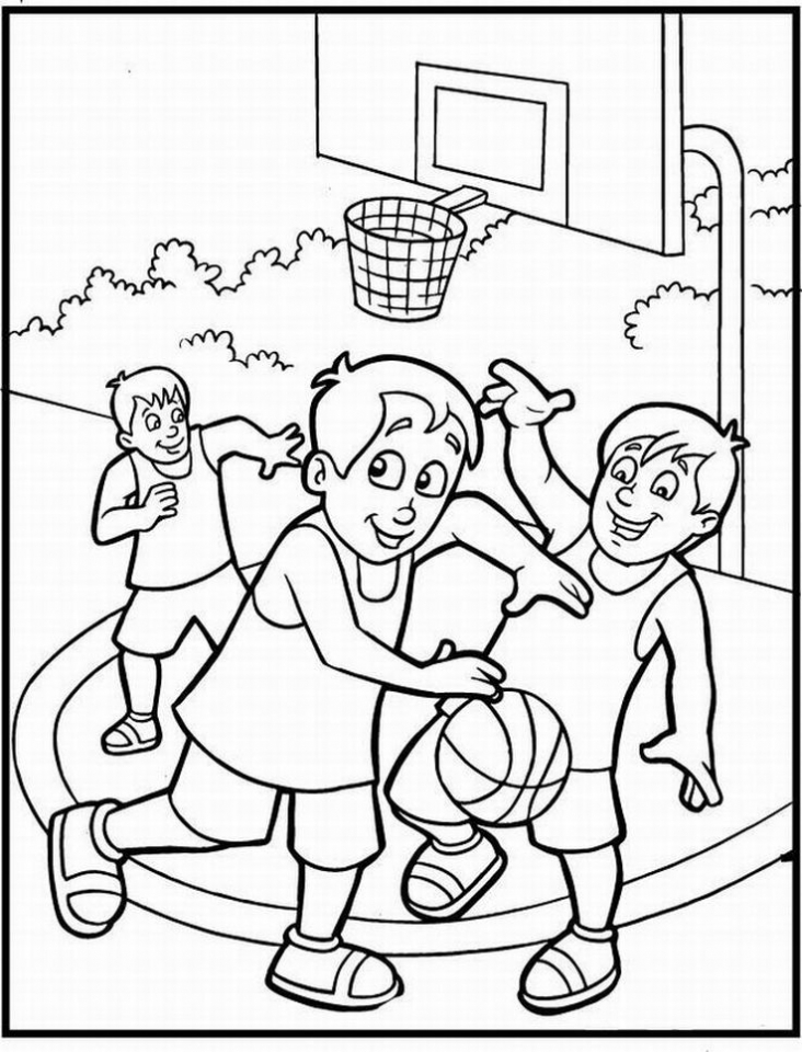 20+ Free Printable Basketball Coloring Pages ...
