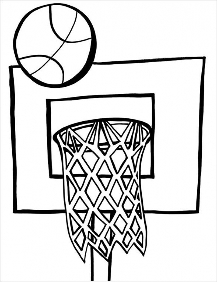 Coloring Pages For Basketball : Get this printable basketball coloring pages online