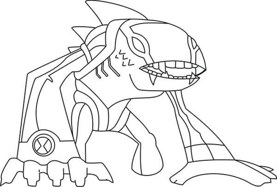 Printable Ben 10 Coloring Pages Online   2x534