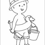 Printable Caillou Coloring Pages Online   gvjp31