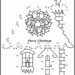 Printable Christmas Dot to Dot Coloring Pages Online   N9F5U
