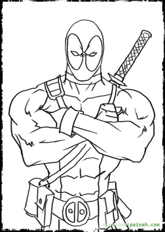Get this printable deadpool coloring pages online 638583 for Free online coloring pages to color online