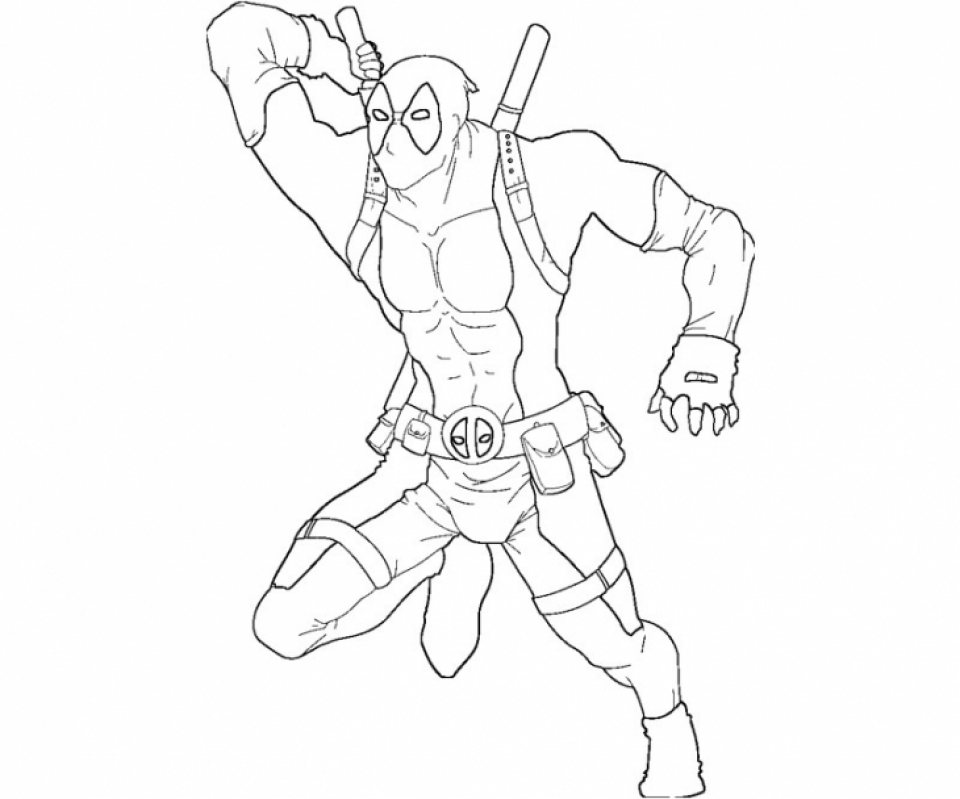 Get This Printable Deadpool Coloring Pages Online 781016
