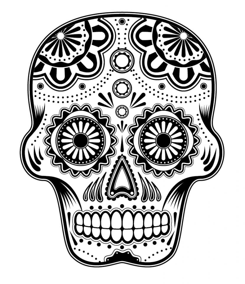 Get This Printable Dia De Los Muertos Coloring Pages Yzost