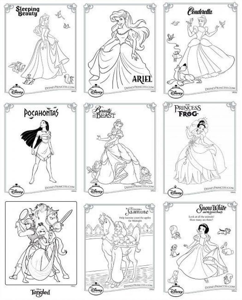 Printable Disney Princess Coloring Pages   952211