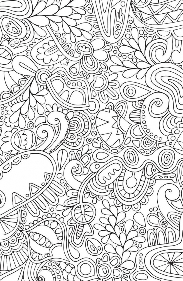 Get This Printable Doodle Art Coloring Pages For Grown Ups CGT3