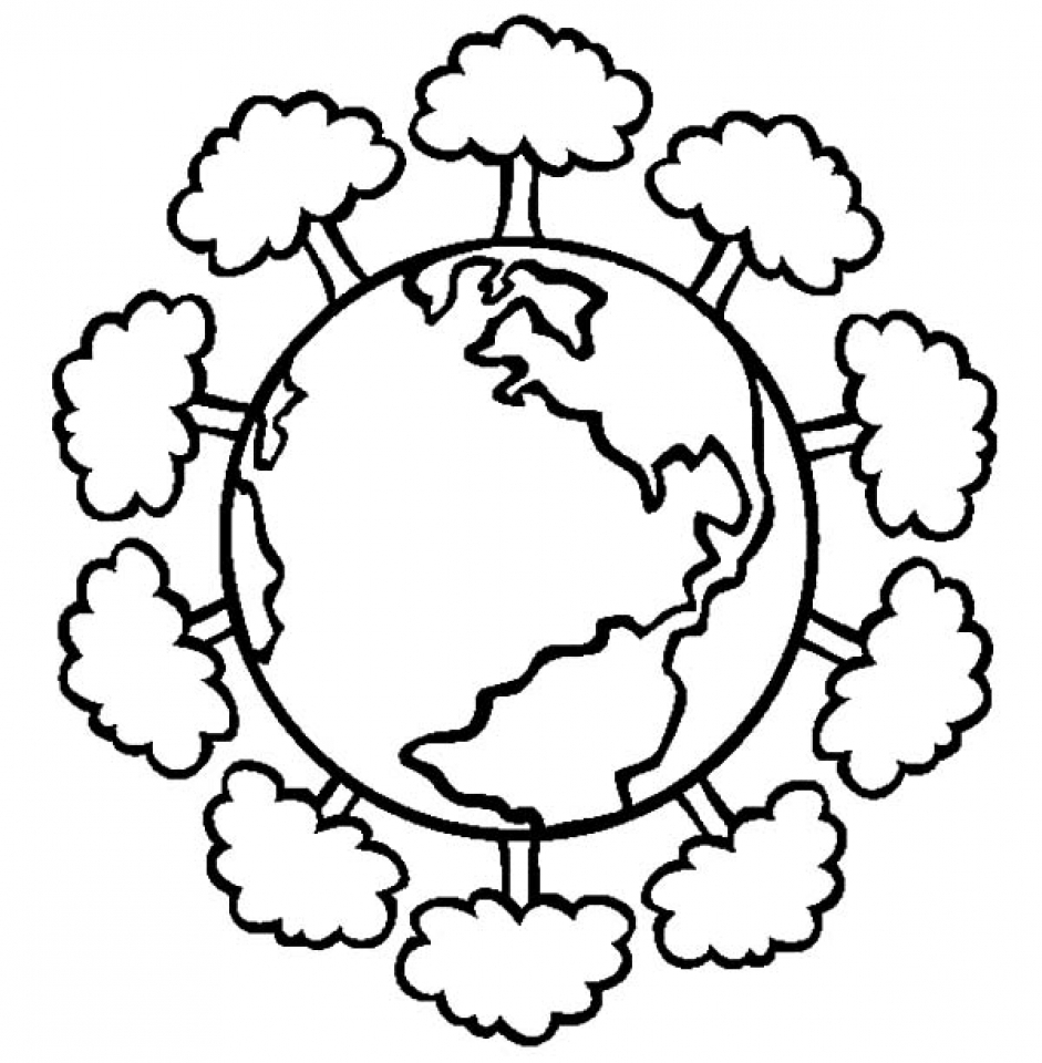 Printable Earth Coloring Pages Online   2x532
