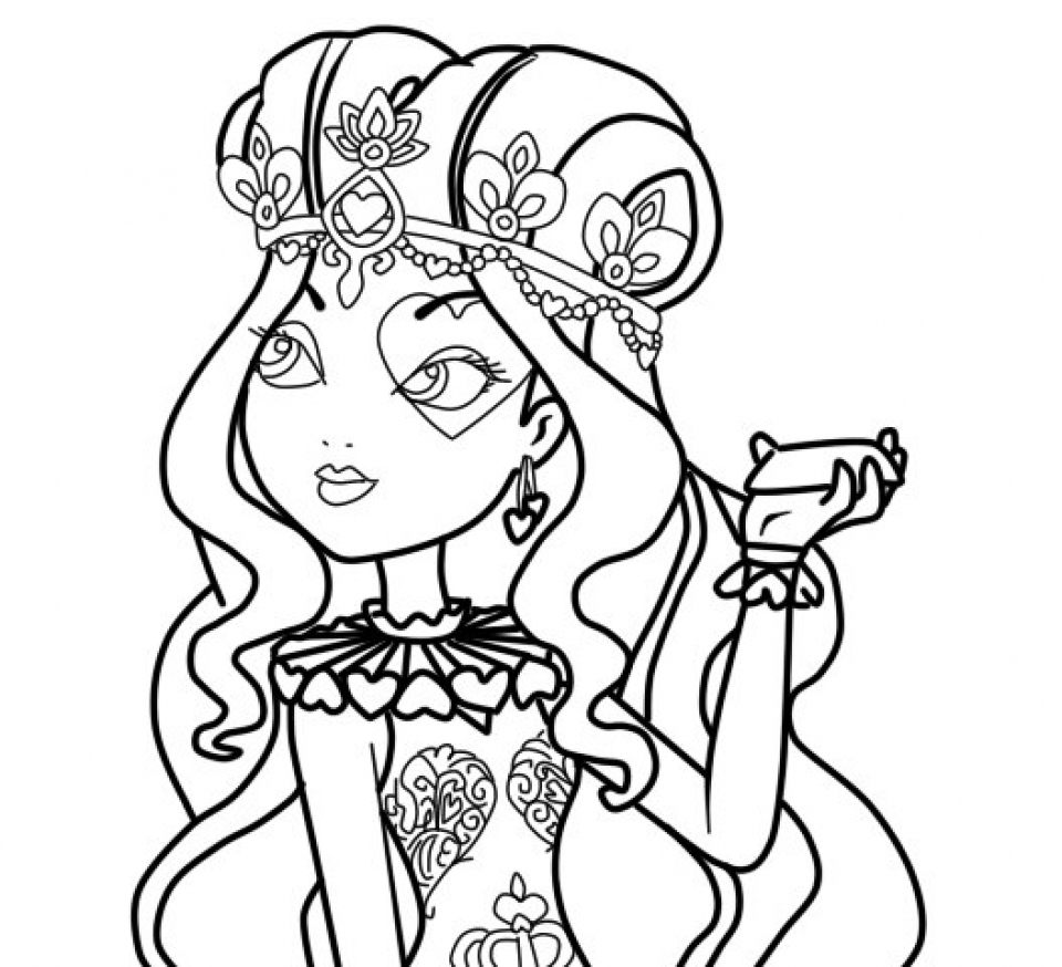 Printable Ever After High Coloring Pages   00467