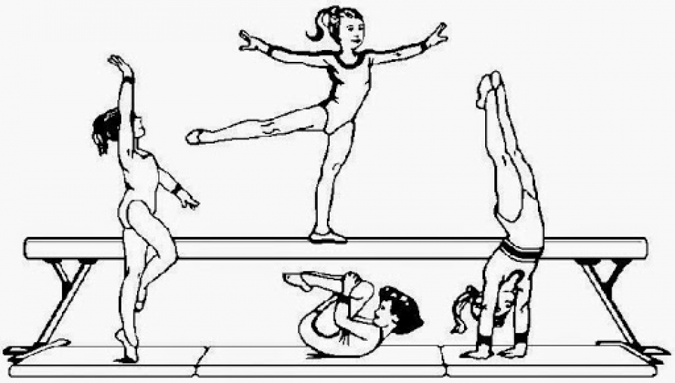 Printable Gymnastics Coloring Pages Online   gvjp12