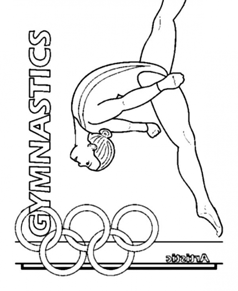 Get This Printable Gymnastics Coloring Pages p79hb