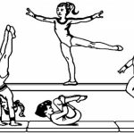 Printable Gymnastics Coloring Pages   yzost