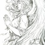 Printable Hard Coloring Pages of Angel for Grown Ups   56WOV
