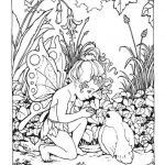 Printable Hard Coloring Pages of Angel for Grown Ups   9NB58