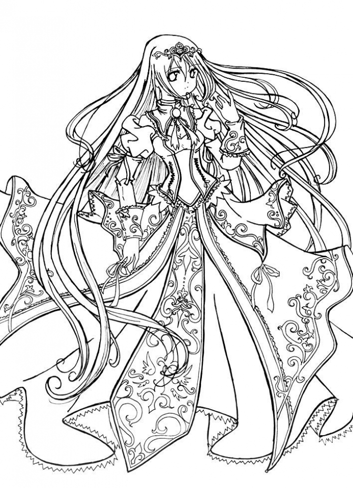 Get this printable hard coloring pages of angel for grown for Angel coloring pages print out