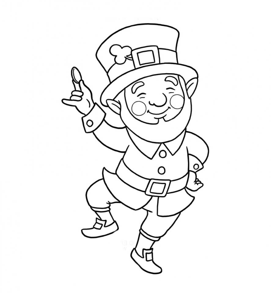 online leprechaun coloring pages - photo#3