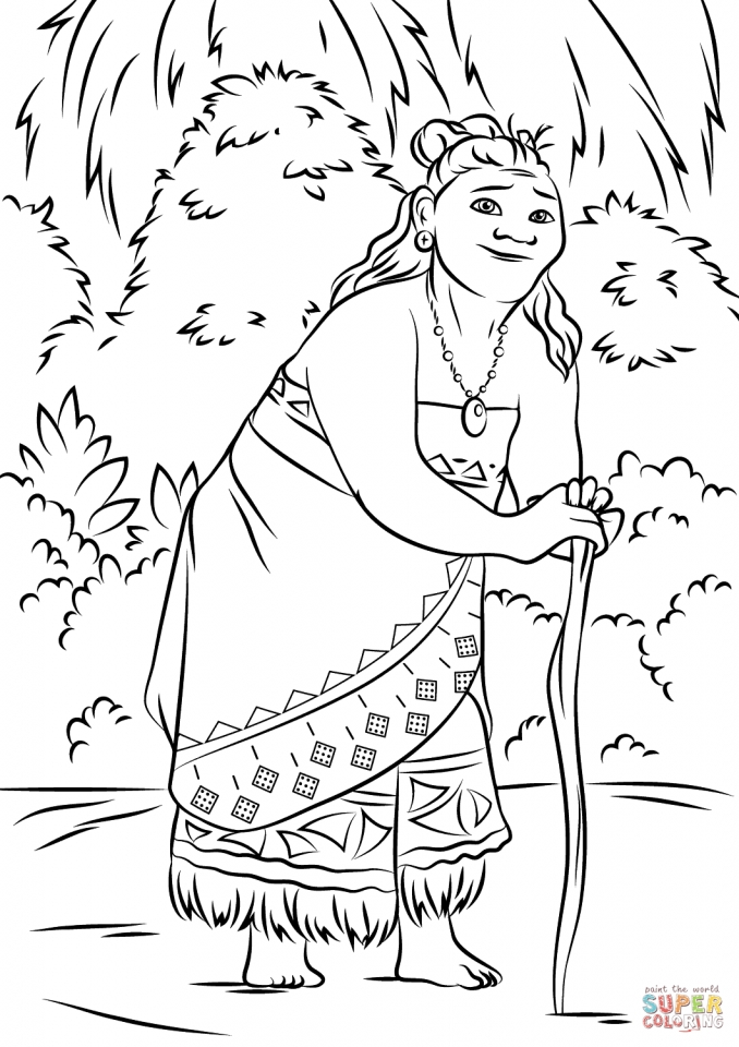 Get This Printable Moana Coloring Pages Online PD76B