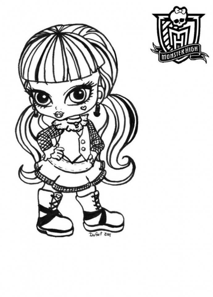 Printable Monster High Coloring Pages Online   686825