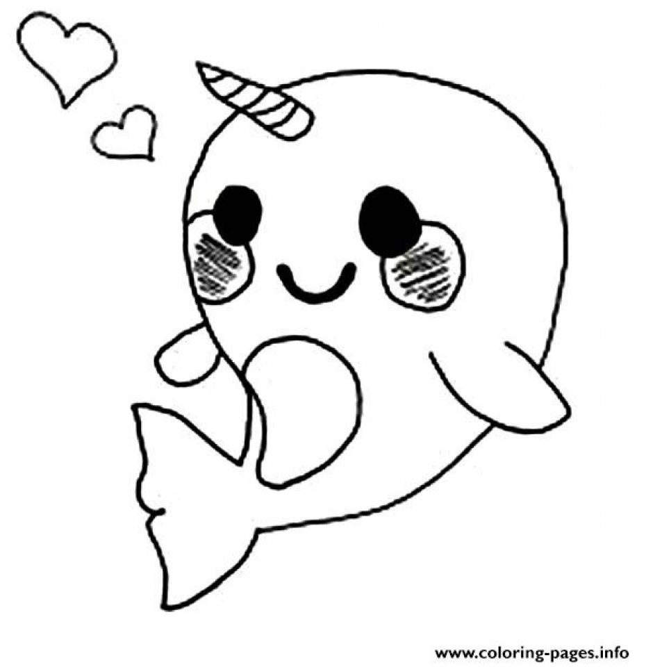 Get This Printable Narwhal Coloring Pages Online 90455