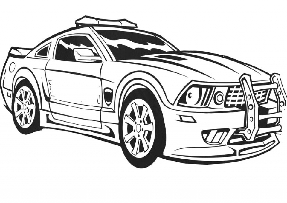 Get Printable Police Car Coloring Pages