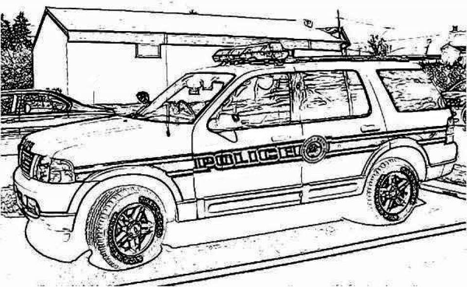 printable police car coloring pages 01827 - Police Car Coloring Pages