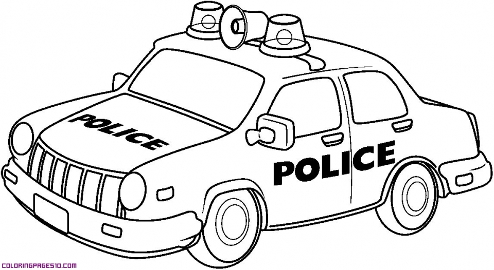 printable police car coloring pages online 59808 - Police Car Coloring Pages