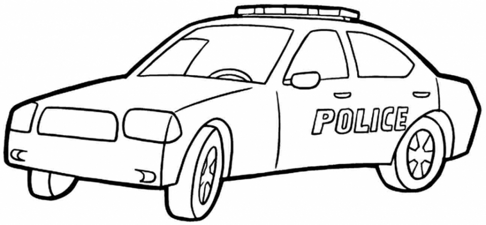 Get This Printable Police Car Coloring Pages Online 90455