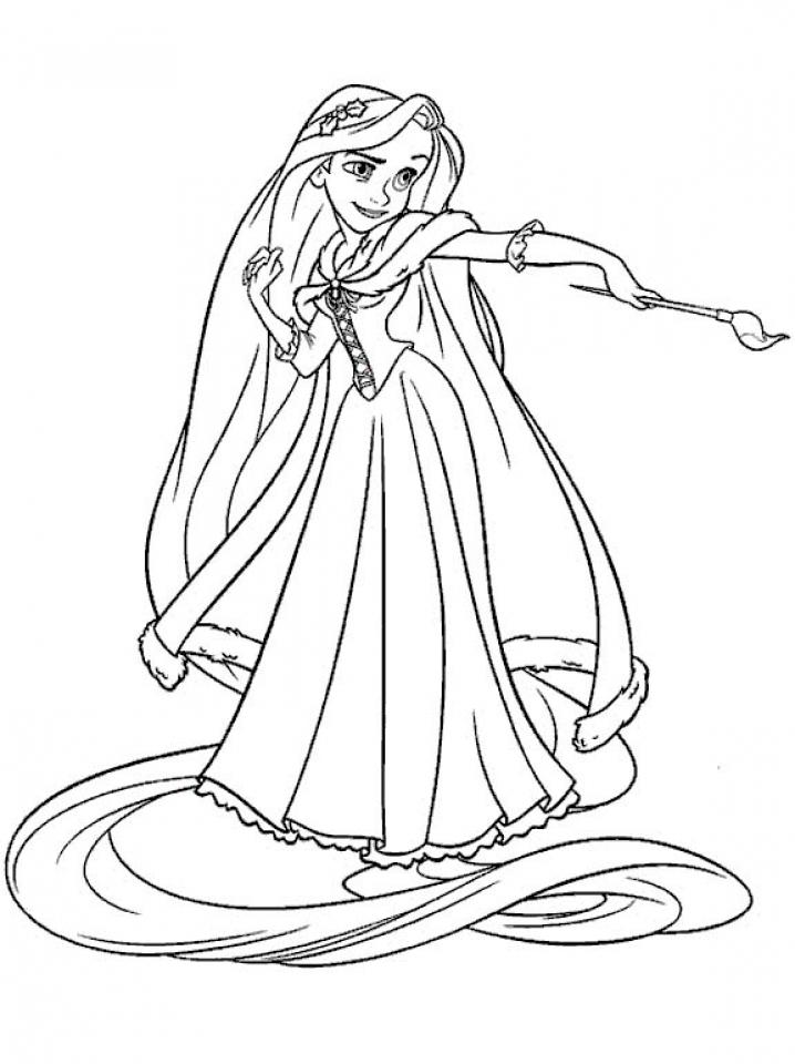 Get This Printable Rapunzel Coloring Pages Online N9F5U