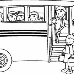 Printable School Bus Coloring Pages Online   4auxs