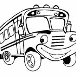 Printable School Bus Coloring Pages   yzost