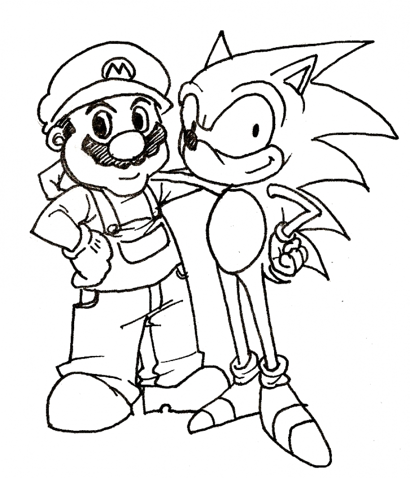 Get This Printable Sonic Coloring Pages 662626