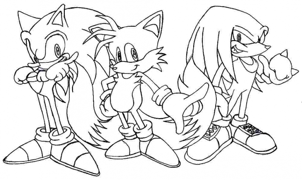 Sonic The Hedgehog Coloring Pages Printable