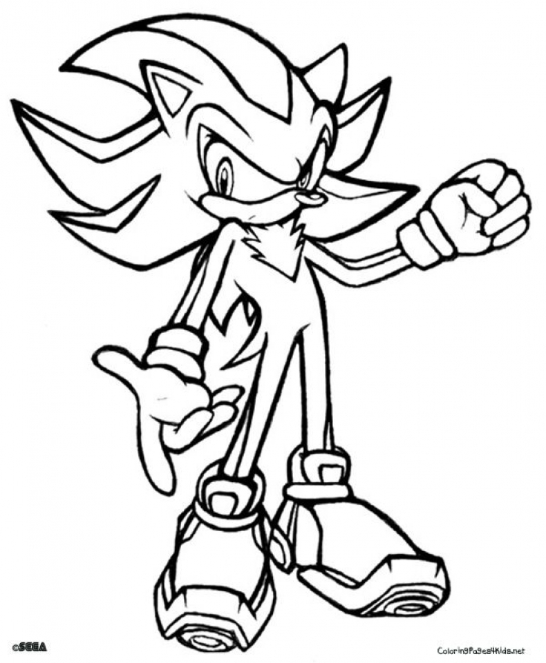 Get This Printable Sonic Coloring