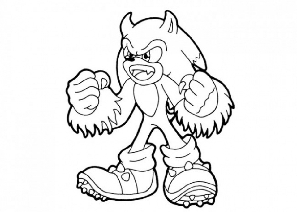 Get This Printable Sonic Coloring Pages 952203