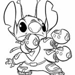 Printable Stitch Coloring Pages Online   4auxs