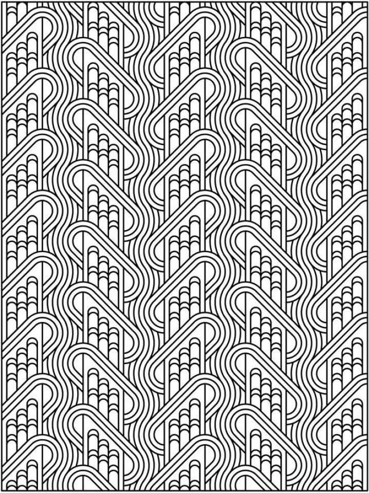 Printable Tessellation Coloring Pages Free   4b2na