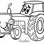 Printable Tractor Coloring Pages   42472