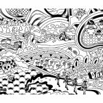 Printable Trippy Coloring Pages for Grown Ups   PS6C5