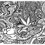 Printable Trippy Coloring Pages for Grown Ups   TA09D