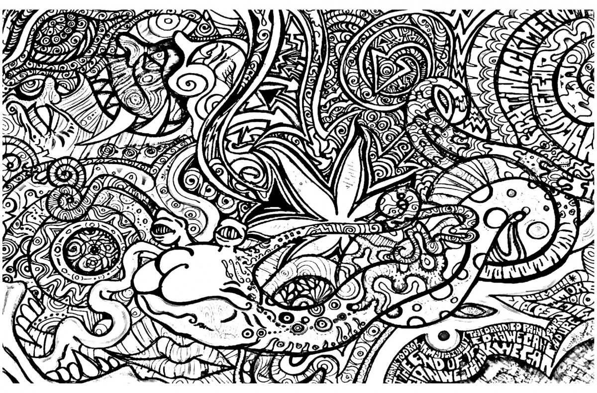 Get this printable trippy coloring pages for grown ups ta09d for Printable psychedelic coloring pages
