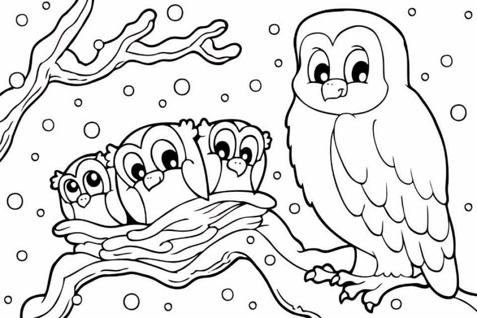 Printable Winter Coloring Pages   810599